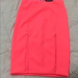 Hot pink Guess skirt with mesh detail